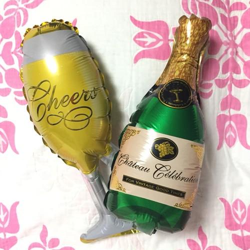 シャンパン&ボトル ミニバルーンセット