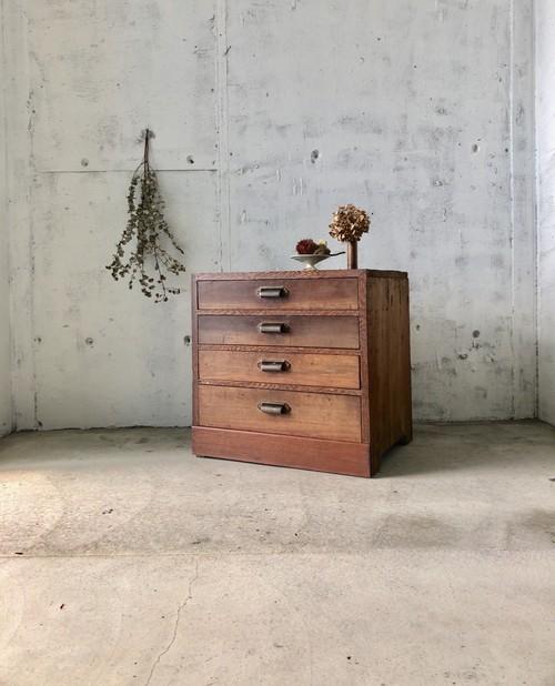 木味の収納棚4杯[古家具]