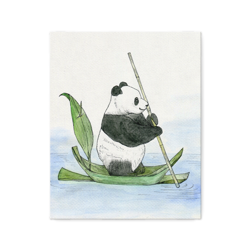 ◆受注生産◆プリントキャンバス◆笹船シャン・3歳バルーン原画バージョン◆