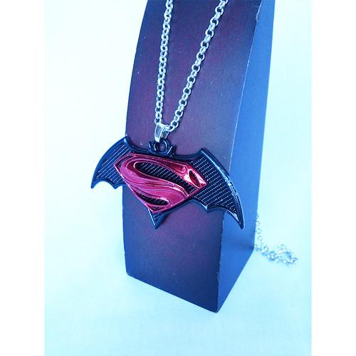スーパーマン バットマン コラボ ロゴ S ネックレス チョーカー 1343