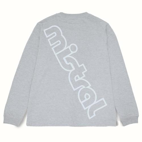 ミストラル ユニセックス [ コットン長袖Tシャツ -ビッグロゴ- ] M.GRAY