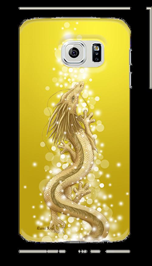 【Galaxyシリーズ】豊かさの金龍 Golden Dragon of Abundance ツヤありハード型スマホケース