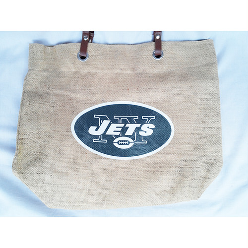 NFL ニューヨーク ジェッツ New York Jets NY バーラップ 黄麻布 トートバッグ バッグ 正規品 1772