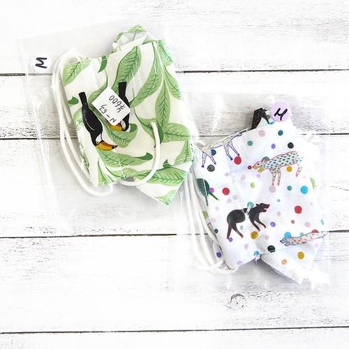 【Swan】折り返し型布マスク(動物)・レディースサイズ/マスク