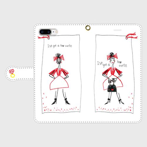 りぼんgirlip手帳型(大)受注生産¥3900