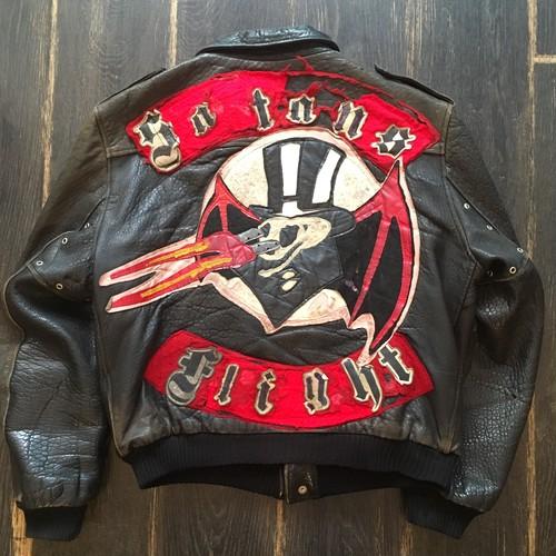 """La Rocka! Vintage Flying Jacket """"Satans Flight"""""""