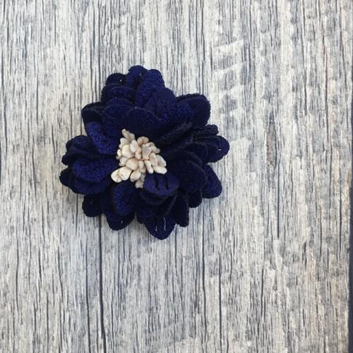 お花のパーツ (ネイビー)