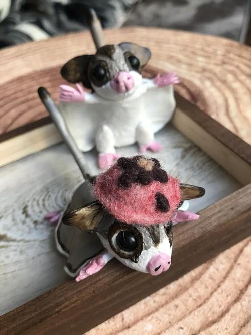 小動物用帽子【いちごチョコ】