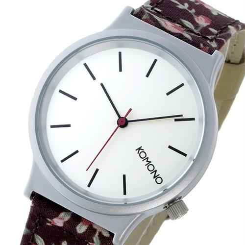 コモノ KOMONO Wizard Print-Roseberry クオーツ レディース 腕時計 KOM-W1810 オフホワイト ホワイト