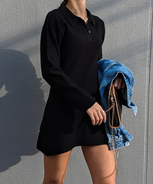 Polo knit onepiece