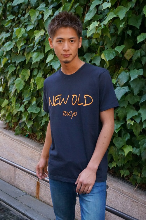 SIMPLE LOGO TEE《NAVY×ORANGE》