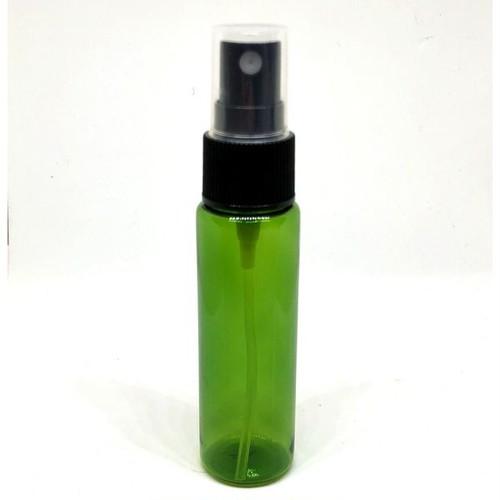 【スプレー容器】30ml 緑 グリーン ポーチサイズ アロマ プラスチック 遮光 軽量 お掃除 除菌 消臭 詰め換え 詰替 (角肩)