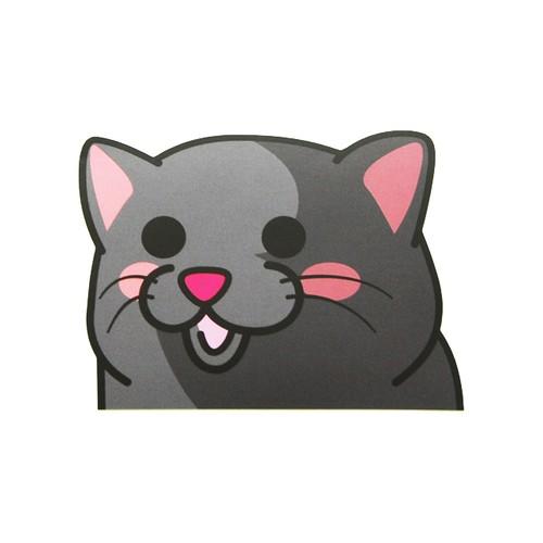 ロシアンブルー(小)     猫ステッカー