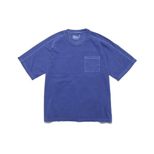 GARMENT DYED HALF SLEEVE BIG T-SHIRT - BLUE
