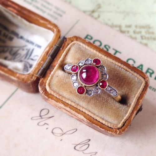 Belle Époque Cabochon Ruby Ring
