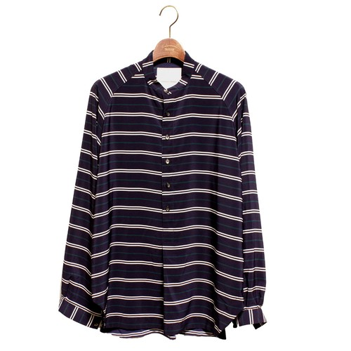 Grandpa Shirt -navy <LSD-AI1S2>