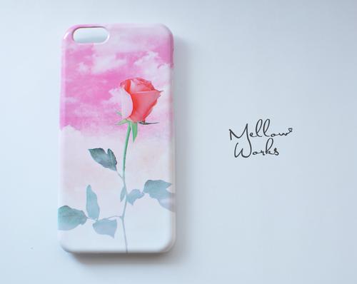 [受注制作] iPhone Android Case 花と空のスマホケース