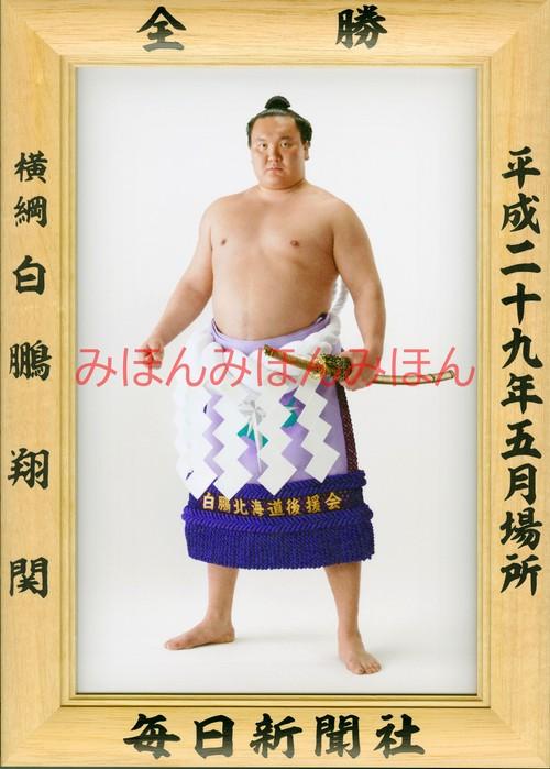 平成29年5月場所全勝 横綱 白鵬翔関(38回目の優勝)