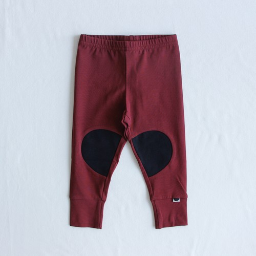 《PAPU 2020AW》PATCH LEGGINGS / DEEP RED