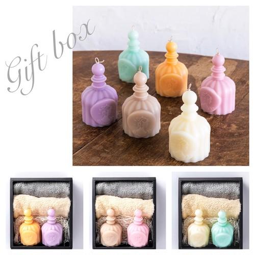 香水キャンドルのギフトセット/ラッピング込み/お祝い・お返し・母の日などのプレゼントに