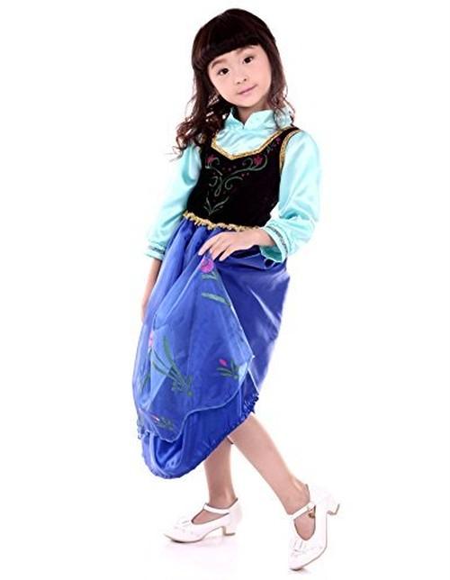 豪華なドレス ワンピース キッズ 子供用 女の子 コスチューム ハロウィーン衣装 マント付き (120cm)
