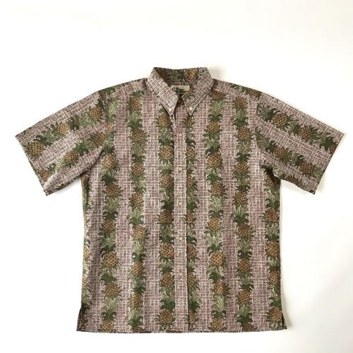 NEW アロハシャツ  /  メンズ レインスプーナー /  pineapple size L