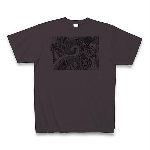 【Tシャツ】チャコール色「Love Universe」