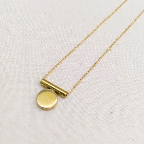 【ANOTHER FEATHER】DISCUS NECKLACE / A=BRASS/NO.36
