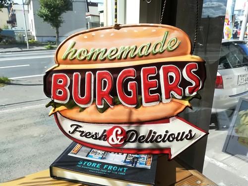 アンティークアメリカンエンボスサイン「ハンバーガー」