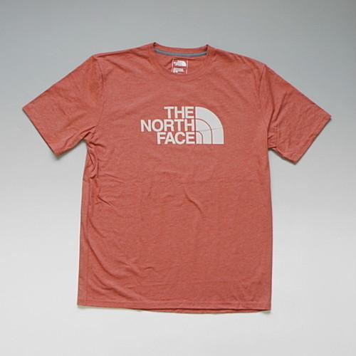 【メール便対応】THE NORTH FACE SAMPLE HD LOGO TEE ノースフェイス サンプルデザイン ハーフドームロゴTシャツ(ヴィンテージホワイト) ボサノバレッド