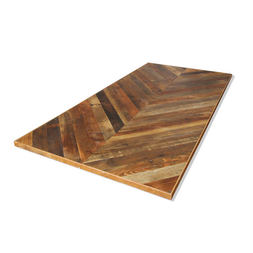 <In Stock> Reclaimed Table Top -Chevron Top- 900x1800