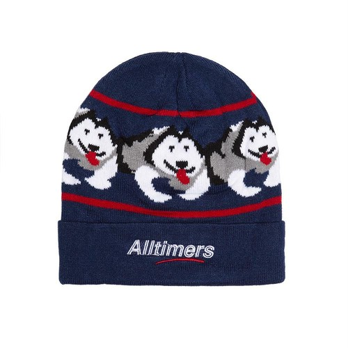 ALLTIMERS (オールタイマーズ) / SNOW PUP BEANIE -NAVY-