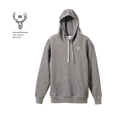 unfudge SWEAT PARKA / HEATHER GRAY