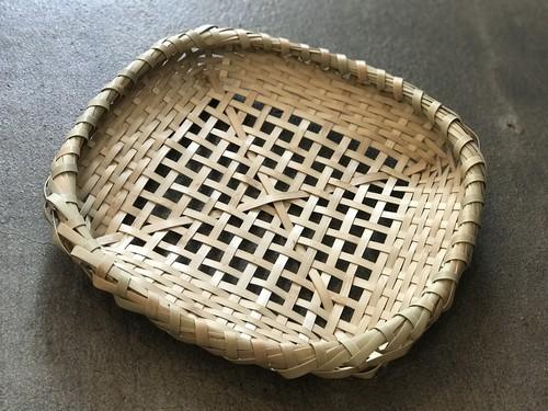 沖縄竹細工の平ざる お盆 トレー 琉球民具