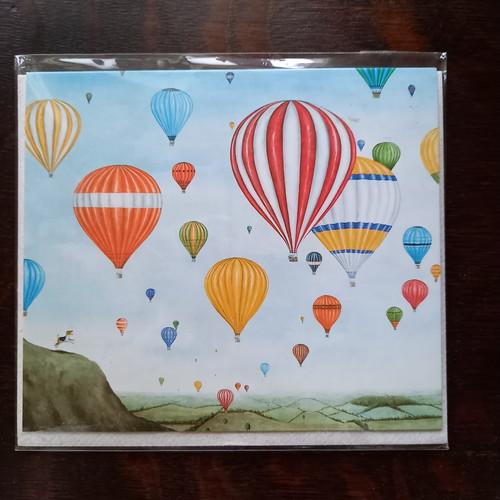 グリーティングカード 気球 1702y48