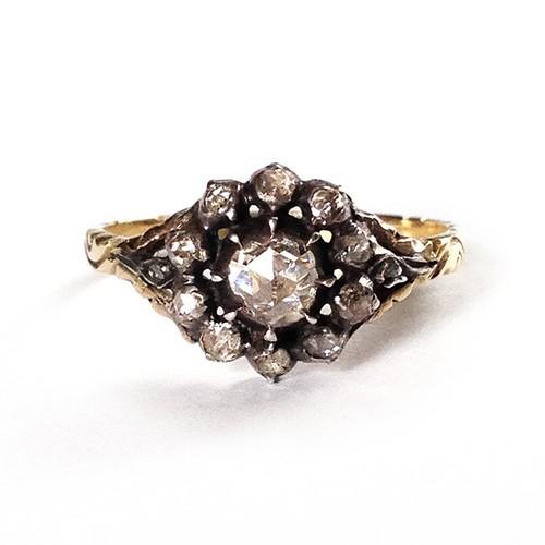 Dutch Rose-cut Diamond Cluster Ring