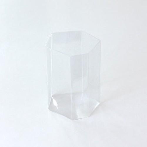 吉沼硝子 変形角柱グラス 小