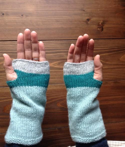 シルクカシミアのアームウォーマー  針なし【編み物キット】