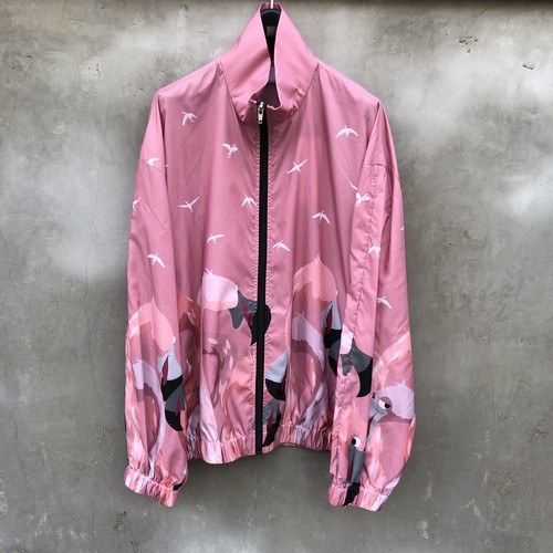 "NEON SIGN  ""switch flamingo bomber jacket"""