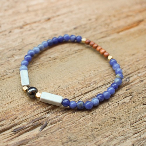 【Hematite】×【Sodalite】bracelet