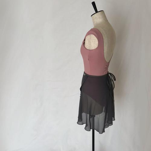"❖""Fiorina"" Ballet Wrap Skirt -  ""Sumi"" Gray [Sheer]( スミ・グレー [シアー])"