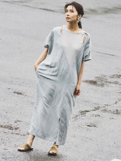 【30%OFF】BRISEMY Poplin washer sack dress ブライズミー ポプリンワッシャーサックドレス