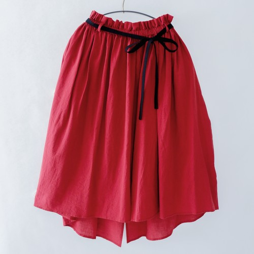 《michirico 2020SS》Center slit skirt / red / S(大人)