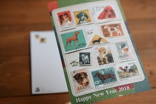 年賀状3枚セット⁂New Year's Card 2018(Green)