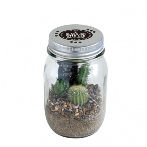 GLASS JAR WITH LED L SIZE