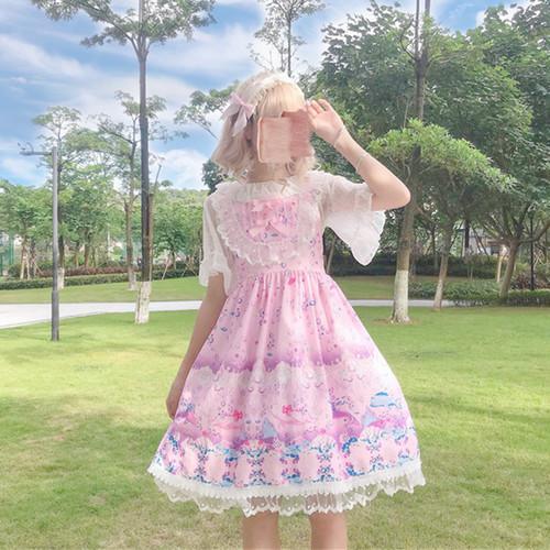 【ワンピース】日系レースボウタイキュートlolitaワンピース
