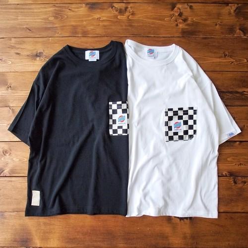 【DARGO】Working Pocket WIDE T-shirt (CHECKER FLAG)