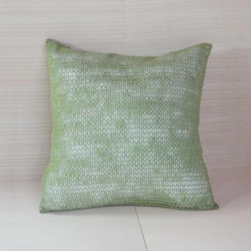 絹ガラ紡コメット編みクッション(77120B)