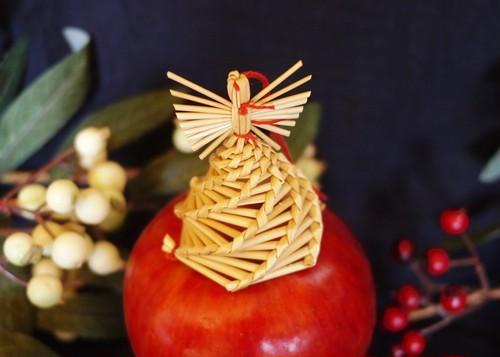ドイツ   ストロー オーナメント ヴィンテージ 藁飾り 天使
