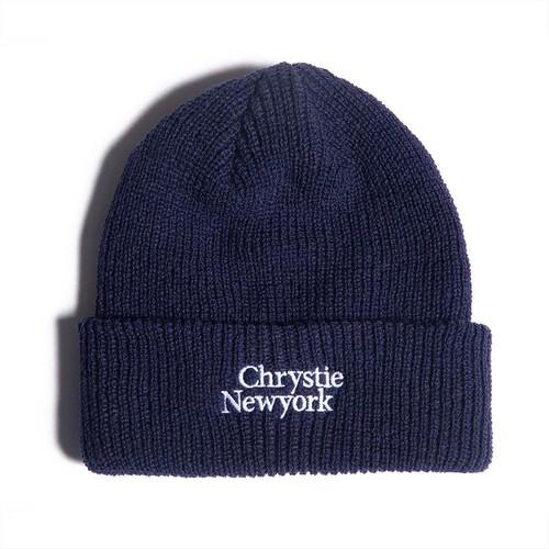 CHRYSTIE NYC / CLASSIC LOGO BEANIE -NAVY-